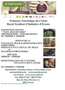 Affiche week end du bois en Ardenne