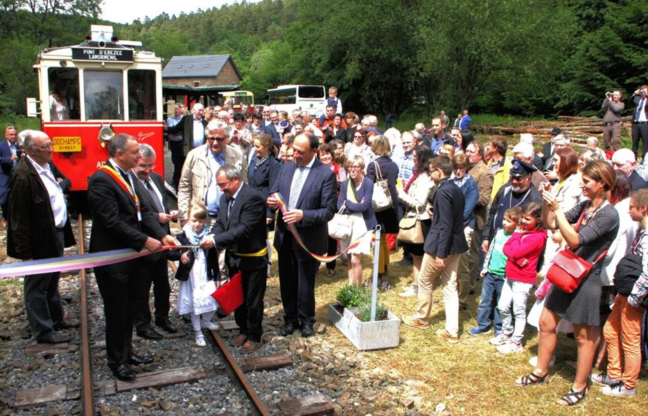 Inauguration tram Famenne Ardenne