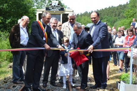 Convoi princier pour inaugurer la nouvelle section de ligne du Tramway Touristique de l'Aisne